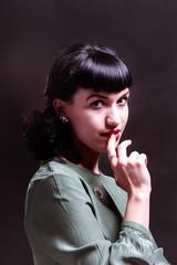 Portrait of a woman in studio