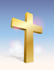 3D Cross Illustration