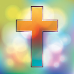Colorful Cross Illustration