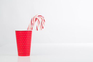 Candy canes on the table