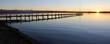 canvas print picture - Steg am Starnberger See bei Sonnenuntergang