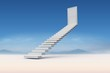 Composite image of stairs leading to door