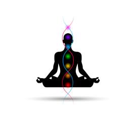 meditazione, tempo, orologio,  fiore di loto