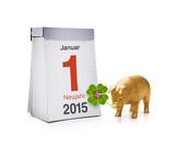 Kalender mit Neujahr