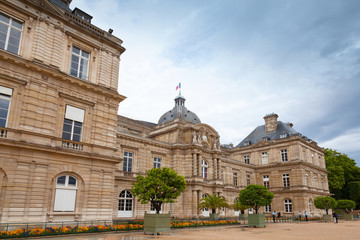 Luxembourg Palace facade. Paris, France