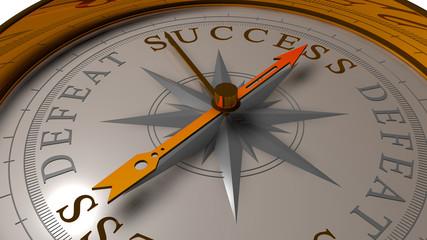 Success vs defeat concept.