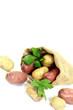 gelbe und rote Kartoffeln im Sack