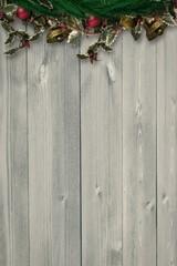 Composite image of festive christmas wreath
