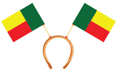 Cool headdress with flags Benin