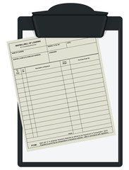 Clipboard with waybill