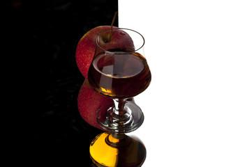 cognac and apple