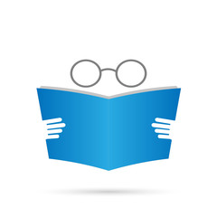Book and Glasses Illustration