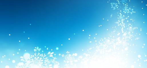 abstrakter Hintergrund, blauer Himmel, Winter, Eiskristalle, BG