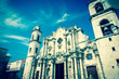 Vintage image of the Havana Cathedral
