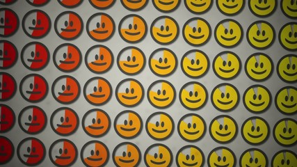 Smiley mood pie charts.