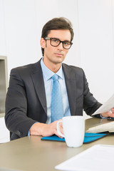 Executive with glasses