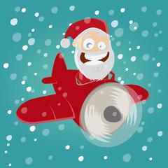 weihnachtsmann flugzeug fliegen weihnachten lustig