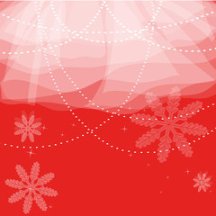 Christmas background with snow and lights