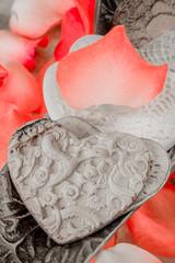 Porcelain Hearts and Rose Peddles