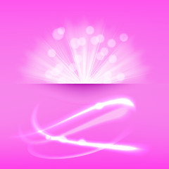 light burst pink background