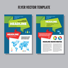 Abstract geometric flyer vector template