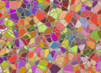 arrangement mosaic from wild stones
