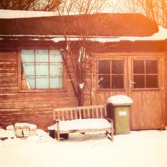 Barn in Winter Instagram