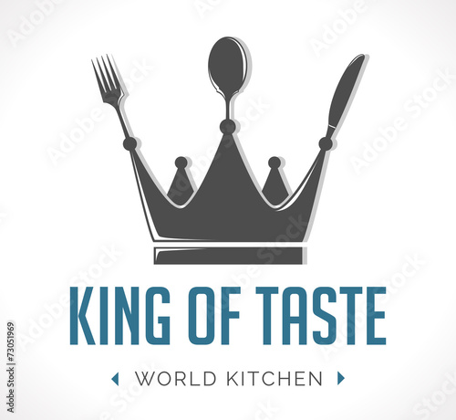 Plexiglas Restaurant Logo - king of taste