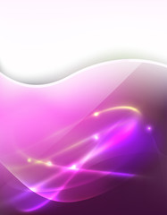 pink background with abstract flowing lines