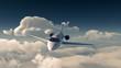 Leinwanddruck Bild - Private jet