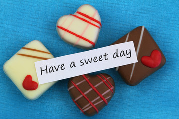 Have a sweet day card with assorted chocolates