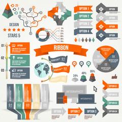 Infographics. Infographic, Ribbon, Logo, Icon, Elements.