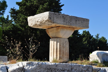 Ruins at Asclepium in Kos island in Greece