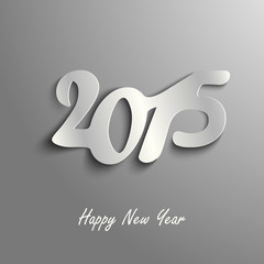 Abstract New Year card on a gray template