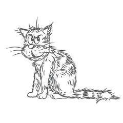 Vector sketch of a cat
