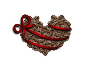 Coffee heart gift