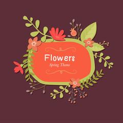 Spring theme card