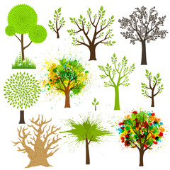 Tree super collection of different styles