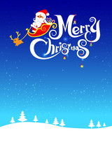 023-Merry Christmas santa and night background 003