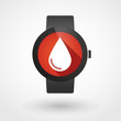 Smart watch icon with a drop