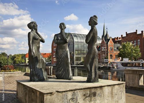 Sculpture on embankment in Bydgoszcz. Poland - 73054785