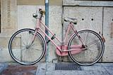 Pink retro bike