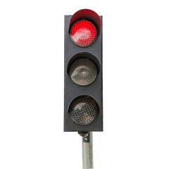 Traffic signals red isolated