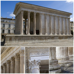 Nimes, France. Maison Carree - Roman temple