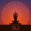 Yoga background. - 73055729