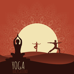 Yoga background.