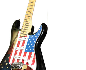 electric guitar American flag