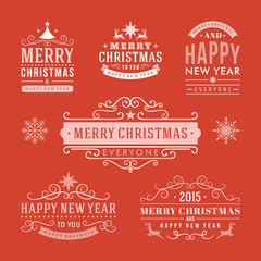 Christmas decoration set of design elements