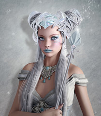 Fantasy ice queen