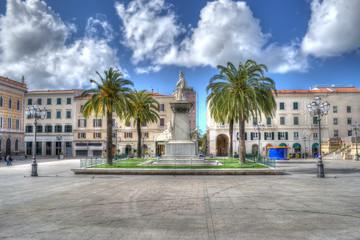 Piazza d'Italia in hdr tone